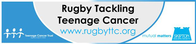 Our new TCT RugbyTTC car sticker sponsored by Skipton Building Society